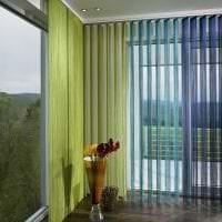 яркие шторы нити в интерьере коридора фото