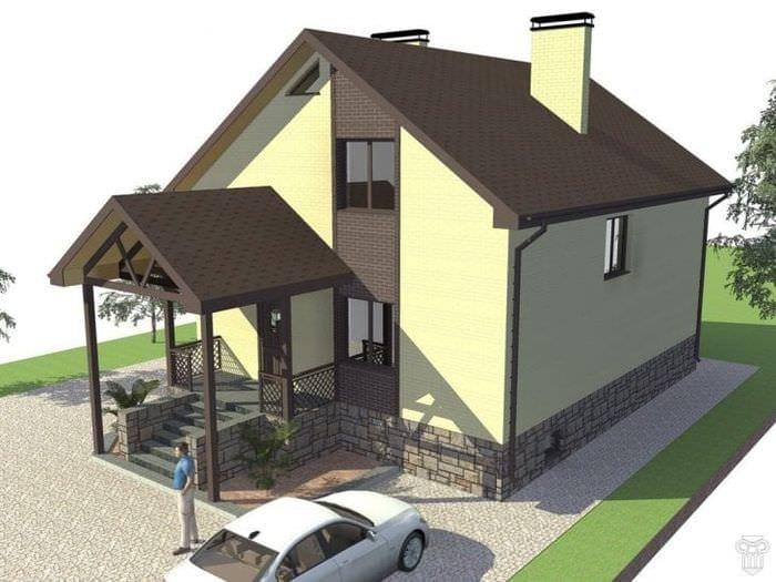светлый стиль дома в архитектурном стиле