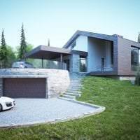 яркий декор дачи в архитектурном стиле фото