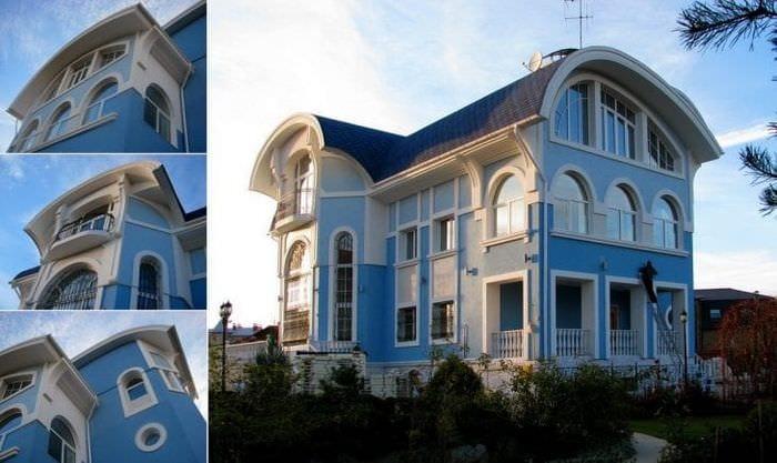 необычный стиль дачи в архитектурном стиле