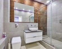 яркий дизайн ванной комнаты с душем в ярких тонах картинка