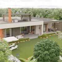 светлый дизайн загородного дома в архитектурном стиле фото