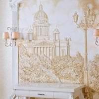 красивый декор спальни с барельефом фото
