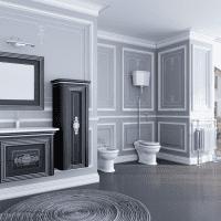 красивый дизайн коридора в черном цвете картинка