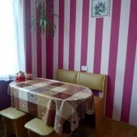 необычный интерьер спальни в цвете фуксия фото