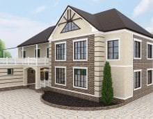 яркий дизайн дома в архитектурном стиле картинка