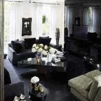 изысканный стиль коридора в черном цвете картинка