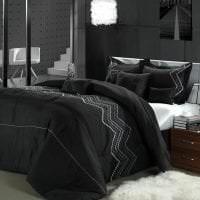 необычный стиль комнаты в черном цвете картинка