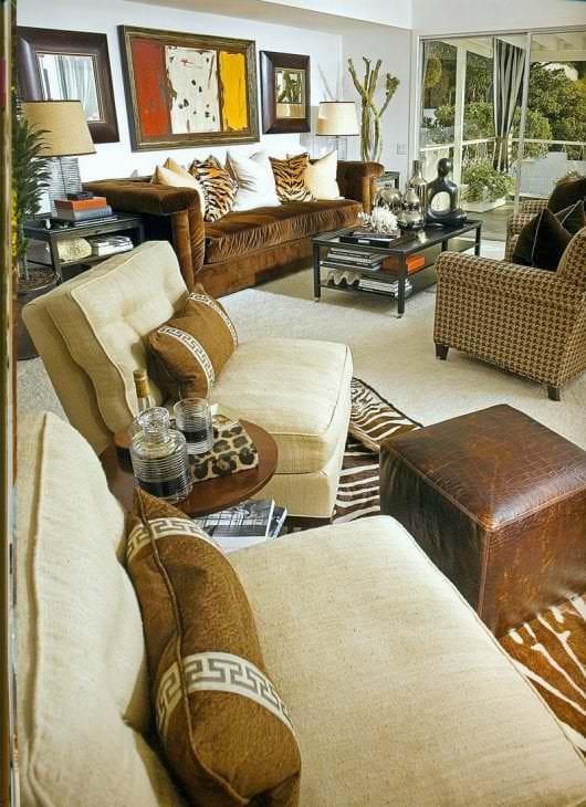 яркий декор спальни в африканском стиле