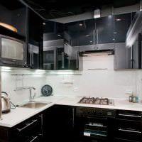красивый декор квартиры в черном цвете фото