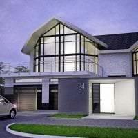 яркий декор дачи в архитектурном стиле картинка