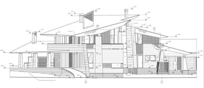 яркий декор дома в архитектурном стиле