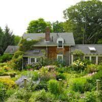 красивый ландшафтный дизайн дачного участка в английском стиле с цветами фото