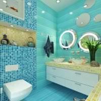 необычный декор квартиры в бирюзовом цвете картинка