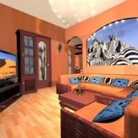 светлый декор коридора в африканском стиле фото