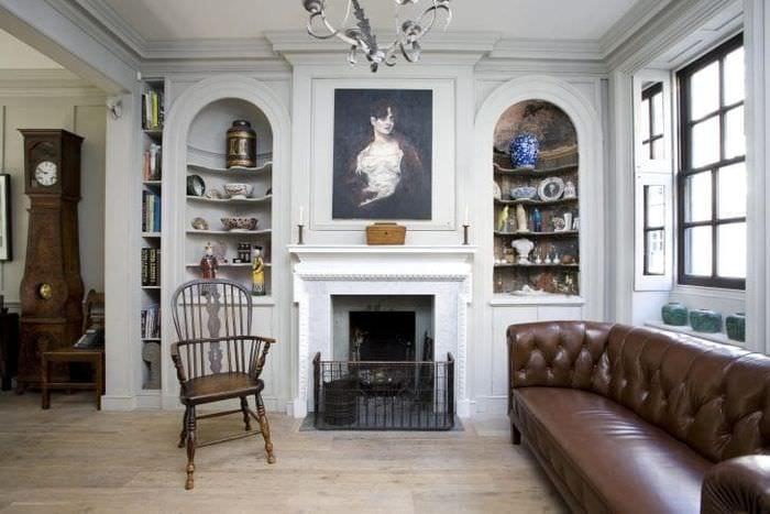 необычный интерьер квартиры в английском стиле