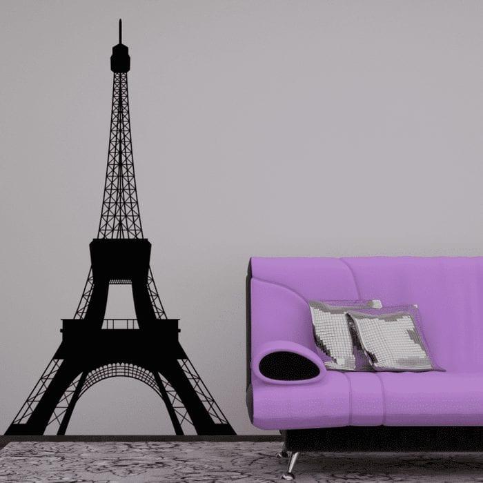 необычный трафарет в дизайне спальни