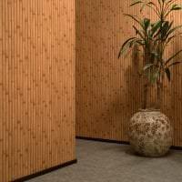 обои с бамбуком в дизайне спальни картинка