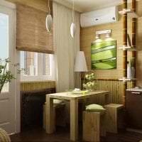 мебель с бамбуком в стиле коридора картинка