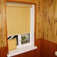 потолок с бамбуком в интерьере спальни фото