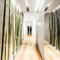 паркет с бамбуком в дизайне кухни фото