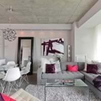 стиль потолка с раствором бетона в доме фото
