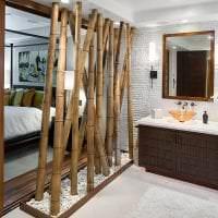 мебель с бамбуком в интерьере коридора картинка