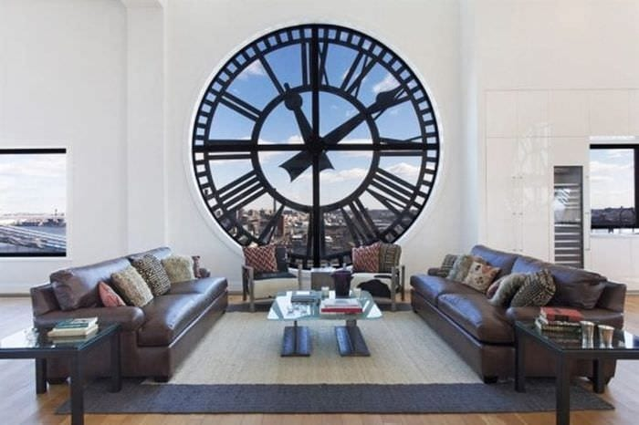 пластиковые часы в кухне в стиле эко