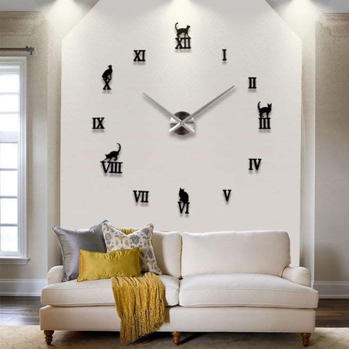 пластиковые часы в кухне в стиле кантри