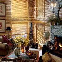 потолок с бамбуком в дизайне кухни картинка