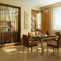 обои с бамбуком в стиле комнаты картинка