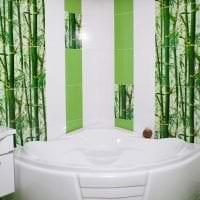шторы с бамбуком в дизайне спальни фото