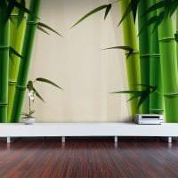 жалюзи с бамбуком в интерьере спальни фото