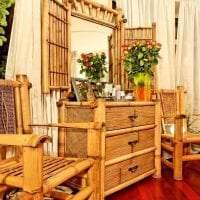 паркет с бамбуком в дизайне комнаты фото