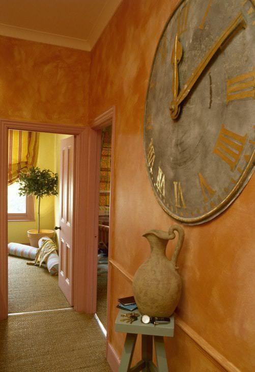 светлый терракотовый цвет в интерьере ванной