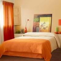 светлый терракотовый цвет в стиле гостиной фото