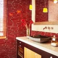 красивый цвет марсала в дизайне кухни фото