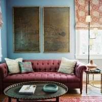 шикарный цвет марсала в интерьере комнаты картинка
