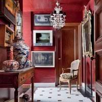 яркий цвет марсала в интерьере кухни фото