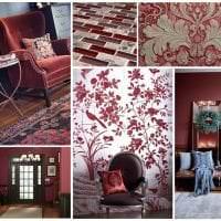 красивый цвет марсала в дизайне коридора фото