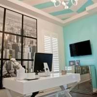 шикарный цвет тиффани в декоре коридора фото