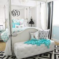 яркий цвет тиффани в стиле комнаты картинка