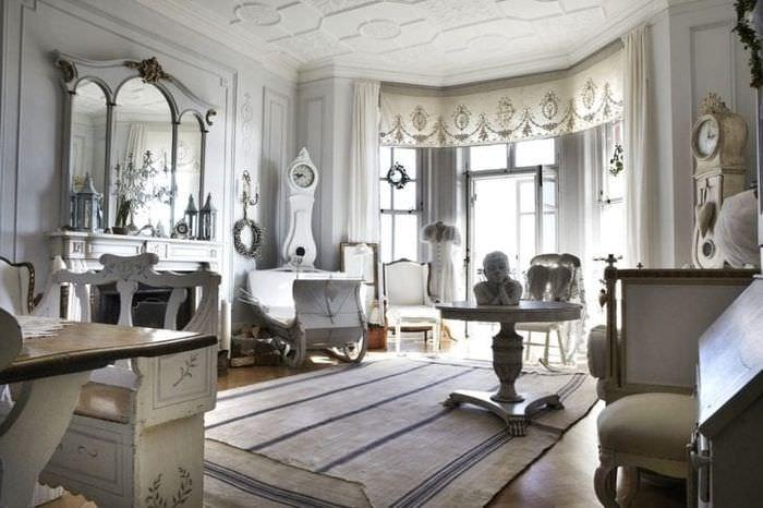 шикарный стиль комнаты в стиле шебби шик