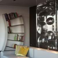 шикарный интерьер гостиной в стиле хай тек картинка