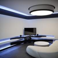 светлый дизайн кухни в стиле хай тек фото