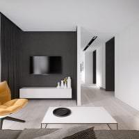 красивый декор прихожей в черно белом цвете картинка