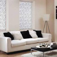 красивый дизайн коридора в черно белом цвете фото