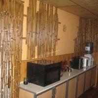 обои с бамбуком в интерьере коридора фото