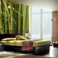 шторы с бамбуком в стиле спальни картинка