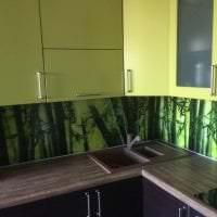 паркет с бамбуком в дизайне коридора фото